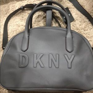 Brand new Dkny silver satchel with tags Box13